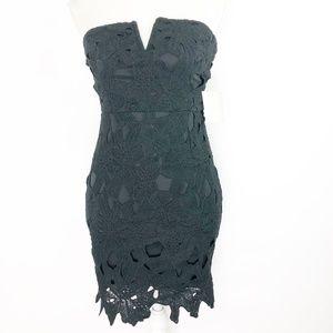Missguided Lace Minidress Sz 4 Black